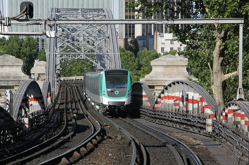 The Viaduc d'Austerlitz from a train cab