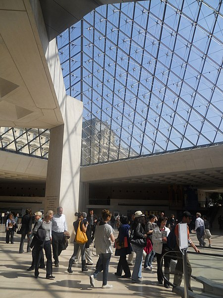 Inside the Louvre Pyramid