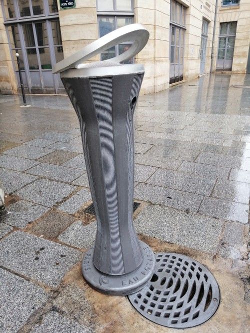 Modern-style small water fountain, Paris