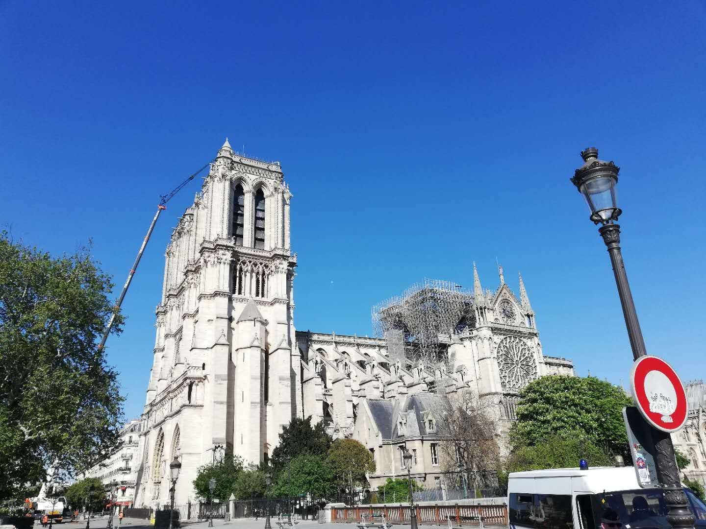 Notre Dame Cathedral, April 2019