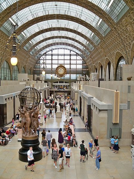 The interior of the Musée d'Orsay