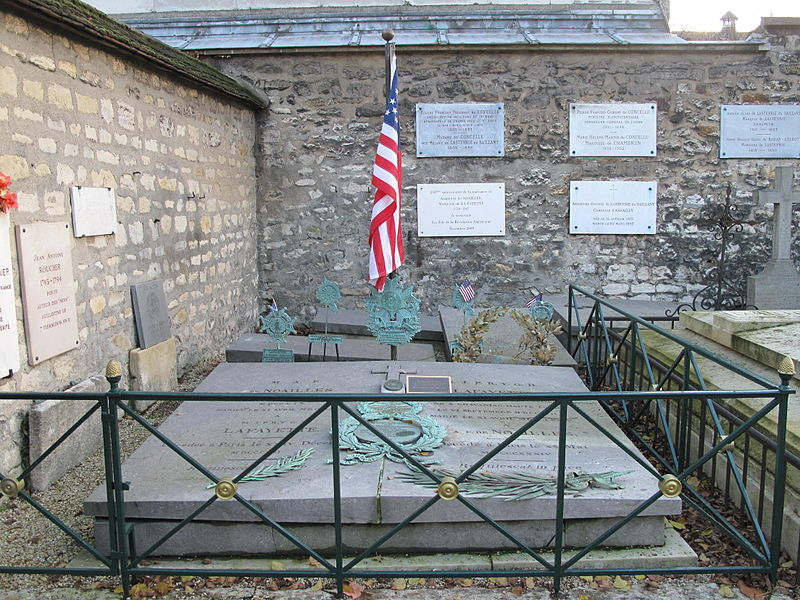 The grave of the Marquis de Lafayette